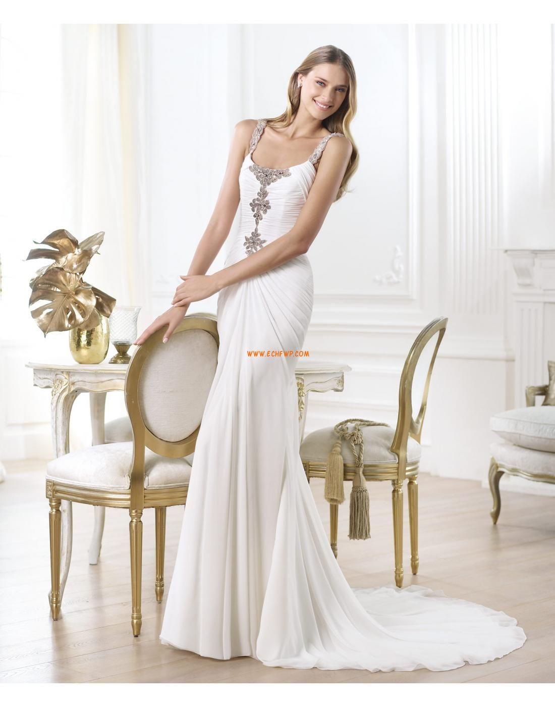 Chiffon Reißverschluss Empire Brautkleider 2014   brautkleider größe ...