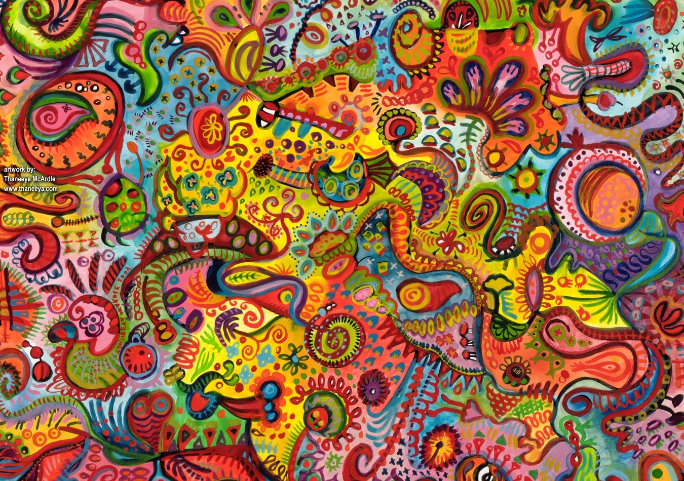 Free Twitter Backgrounds :: Featuring the Funky Art of Thaneeya ...