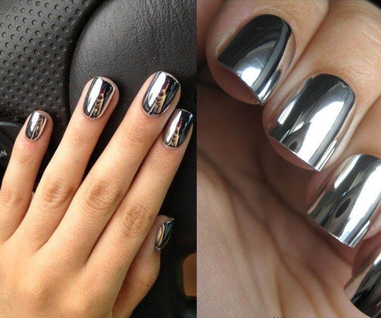 uñas espejo | Nails | Pinterest | Uñas espejo, Spa de uñas y Diseños ...