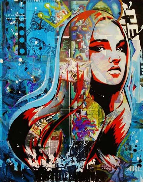 Close up of urban art by ABC Art attack
