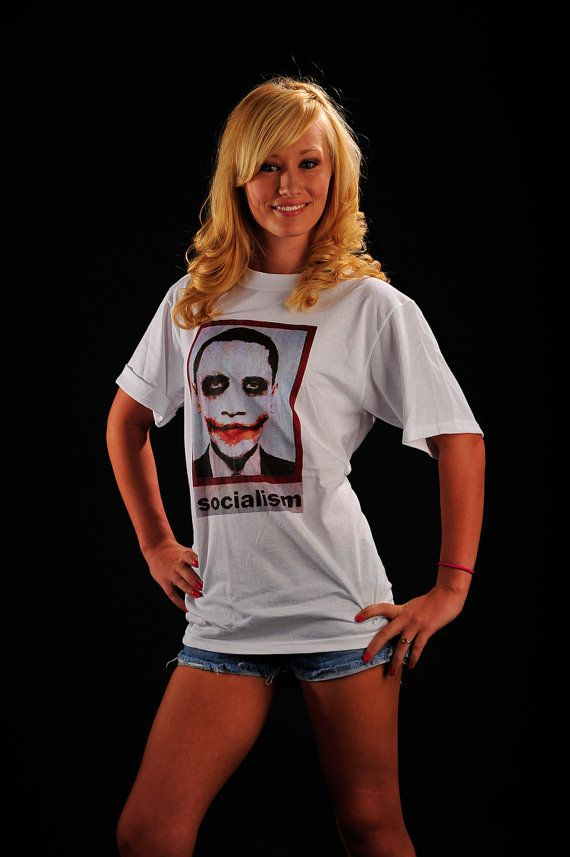 TShirt Anti Obama Socialism as The Joker by LIBERTYSHIRTMARKET, $6.99 on Etsy!