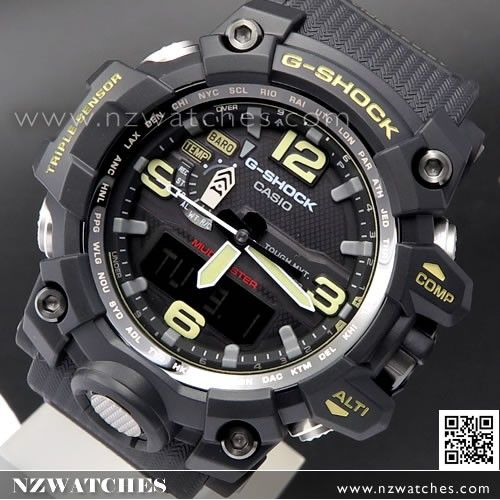 Casio G-Shock MUDMASTER Triple Sensor Solar Multiband 6 Watch GWG-1000-1A a0e922bd8506