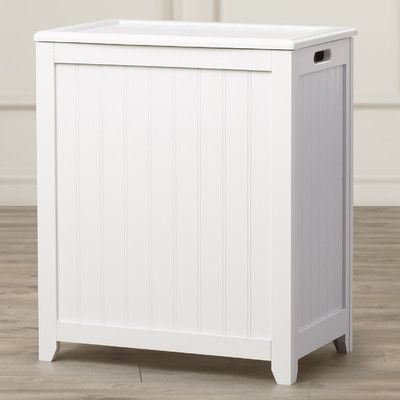 Darby Home Co Laundry Hamper Finish White Laundry Hamper Laundry Hamper Cabinet Storage
