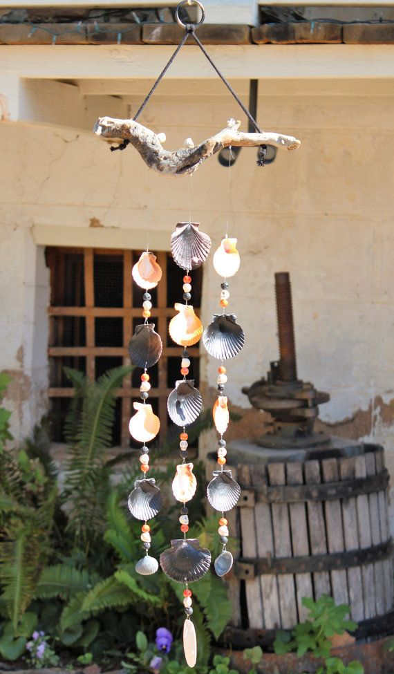 halloween mobile sea shell wind chime driftwood wind chime halloween decorations skeleton