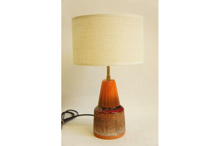ORANGE CERAMIC DANISH LAMP