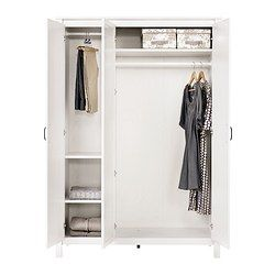 Brusali Wardrobe With 3 Doors Ikea My Dream Bedroom In 2019