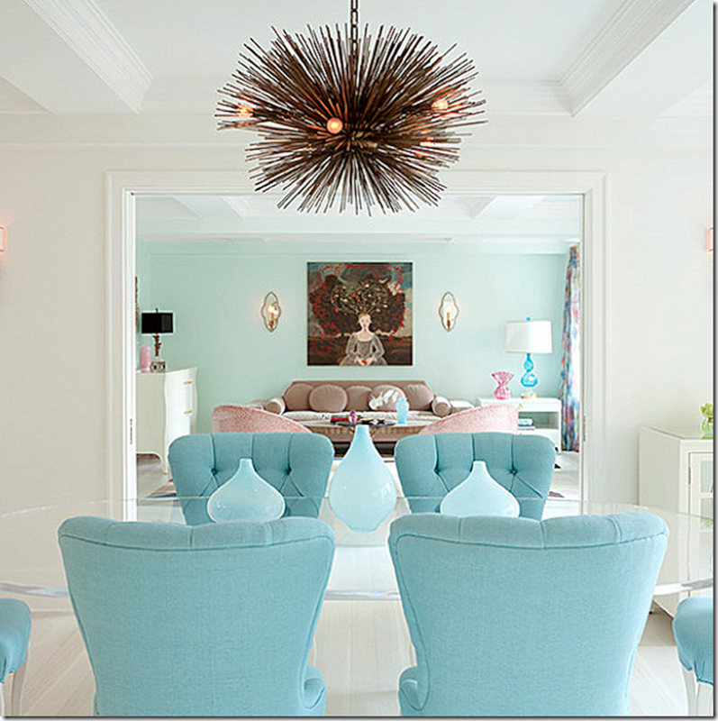 tufted furniture trend. Exellent Trend This Dining Room Mixes Trendy Velvet Tufted Furniture In Pastel Shades U2013  Along With A Sputnik For Tufted Furniture Trend