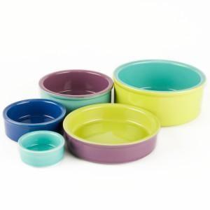 Stoneware Feeding Dish Bowls Water Bottles Small Pet