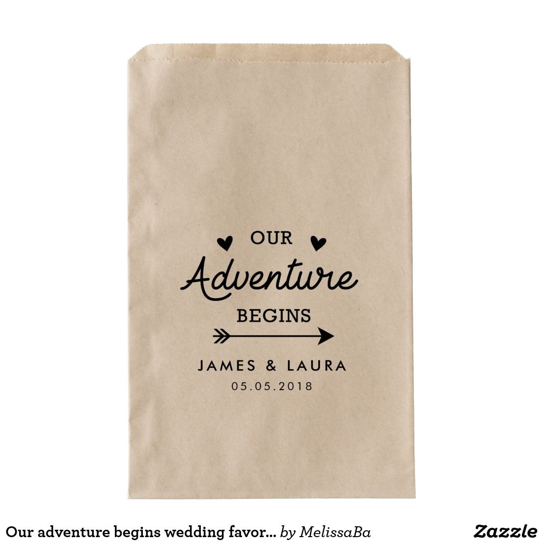 Our adventure begins wedding favour bag | Wedding favor bags