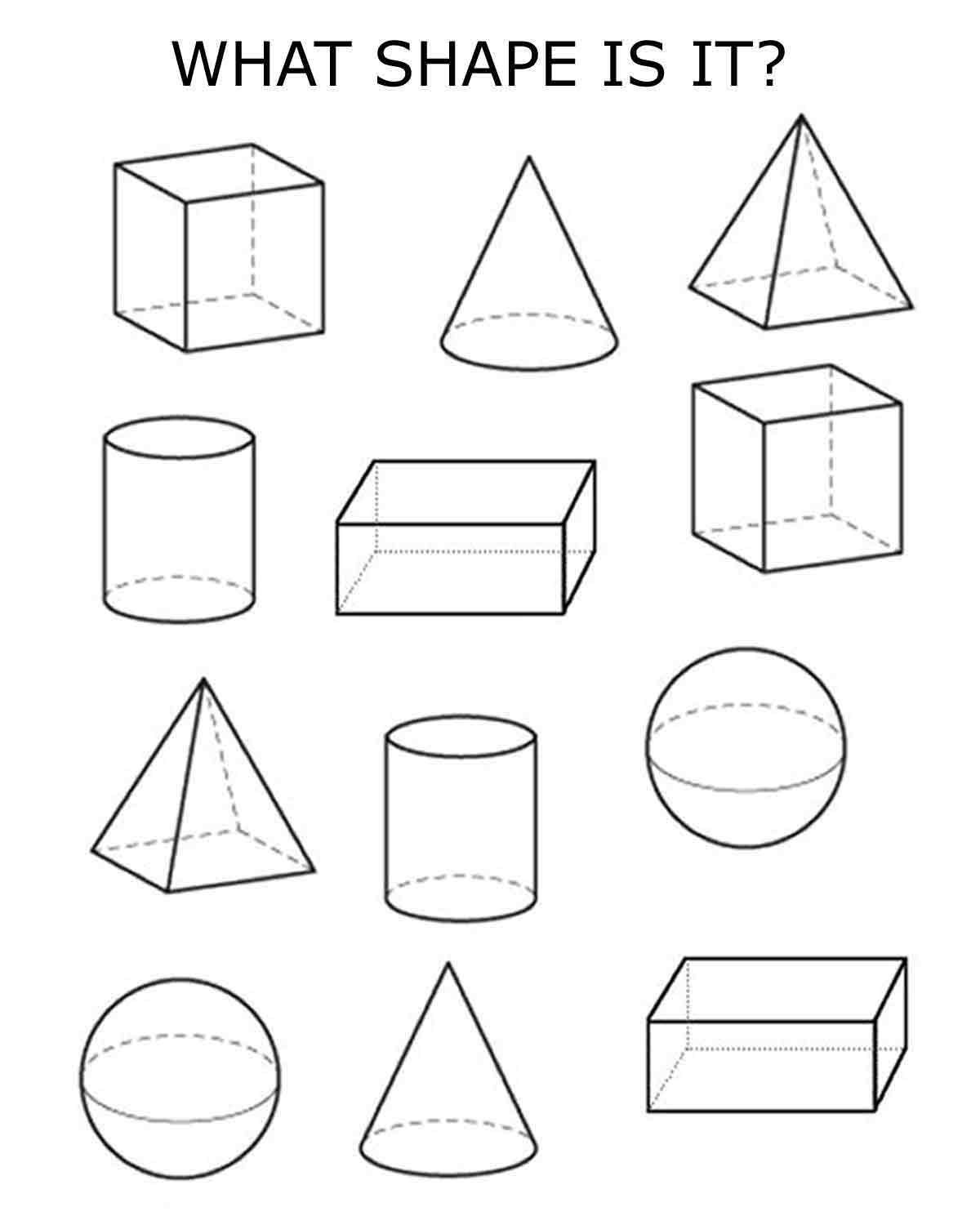 math worksheet : 3d shapes 3d and shape on pinterest : 3d Shapes Worksheet Kindergarten