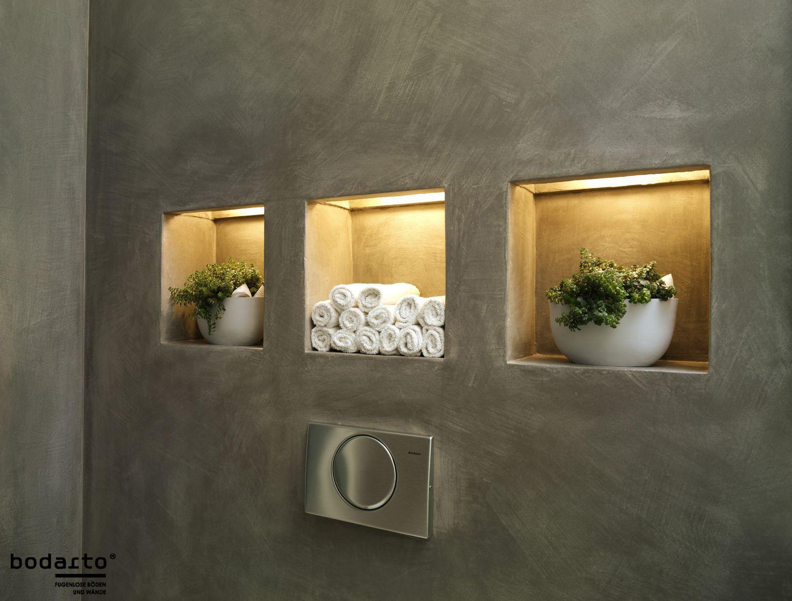 Wandbelag schlammfarbig mit spezieller Struktur. Bodarto