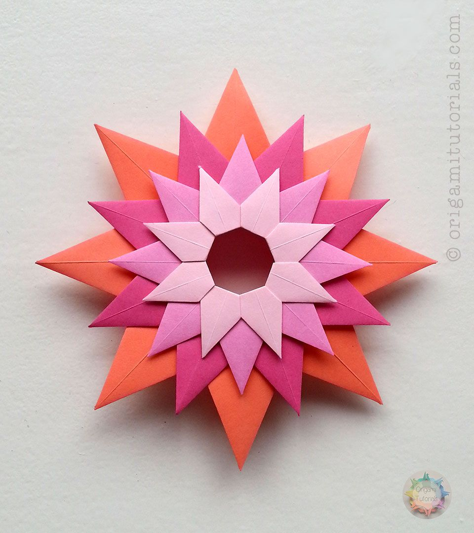 Guide To The Unique Modular Origami Venetian Star Stella Veneziana Designed By Paolo