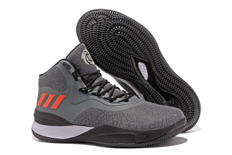 06598070441 ... discount 2018 adidas d rose 8 grey black red white mens basketball shoes  50cbb 1d702