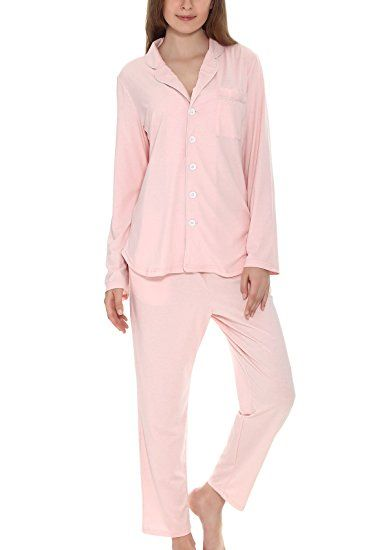cheap price release info on detailed pictures Yulee Women's Button-Up Sleepwear Long Sleeve Pajama Set Pj ...