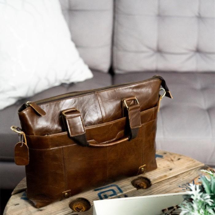Vintage Style Oil Wax Leather Mens Laptop Messenger Bag – Vintage Rebellion 31986fbbf7767
