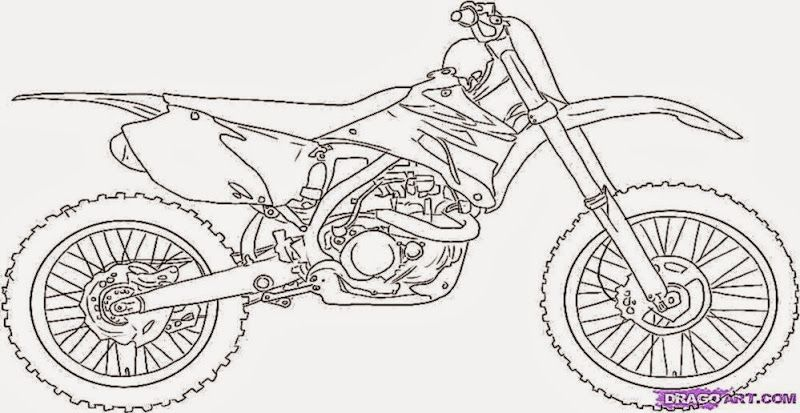 dirt bike coloring page # 2