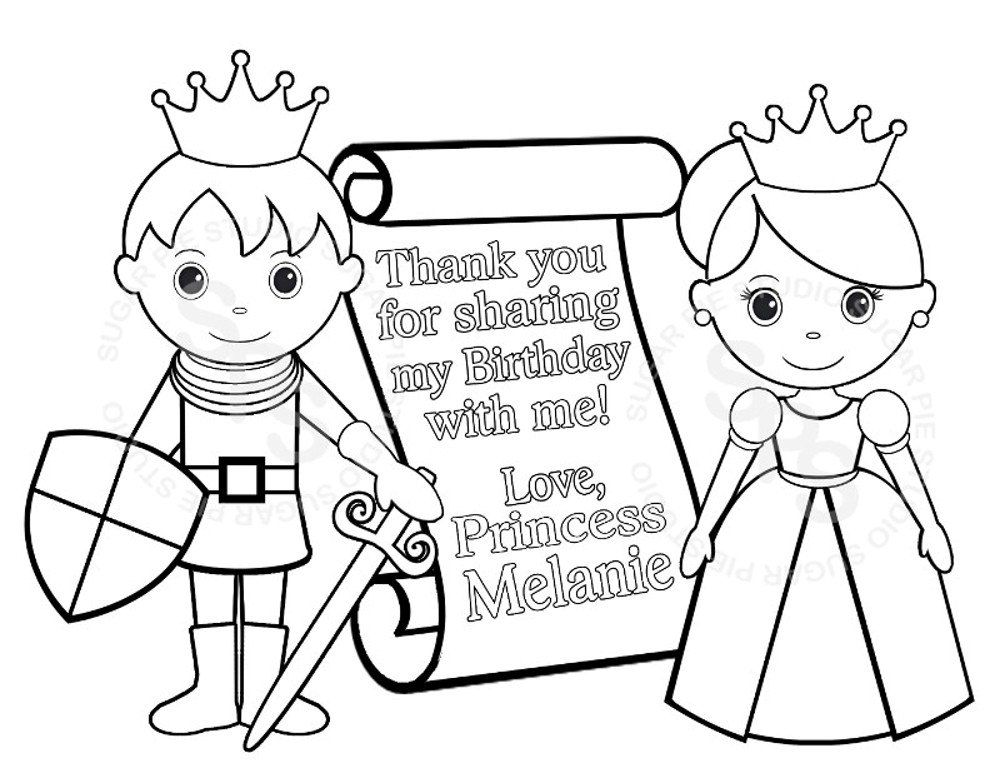 Personalized Printable Princess Prince Knight Scroll Birthday Party ...