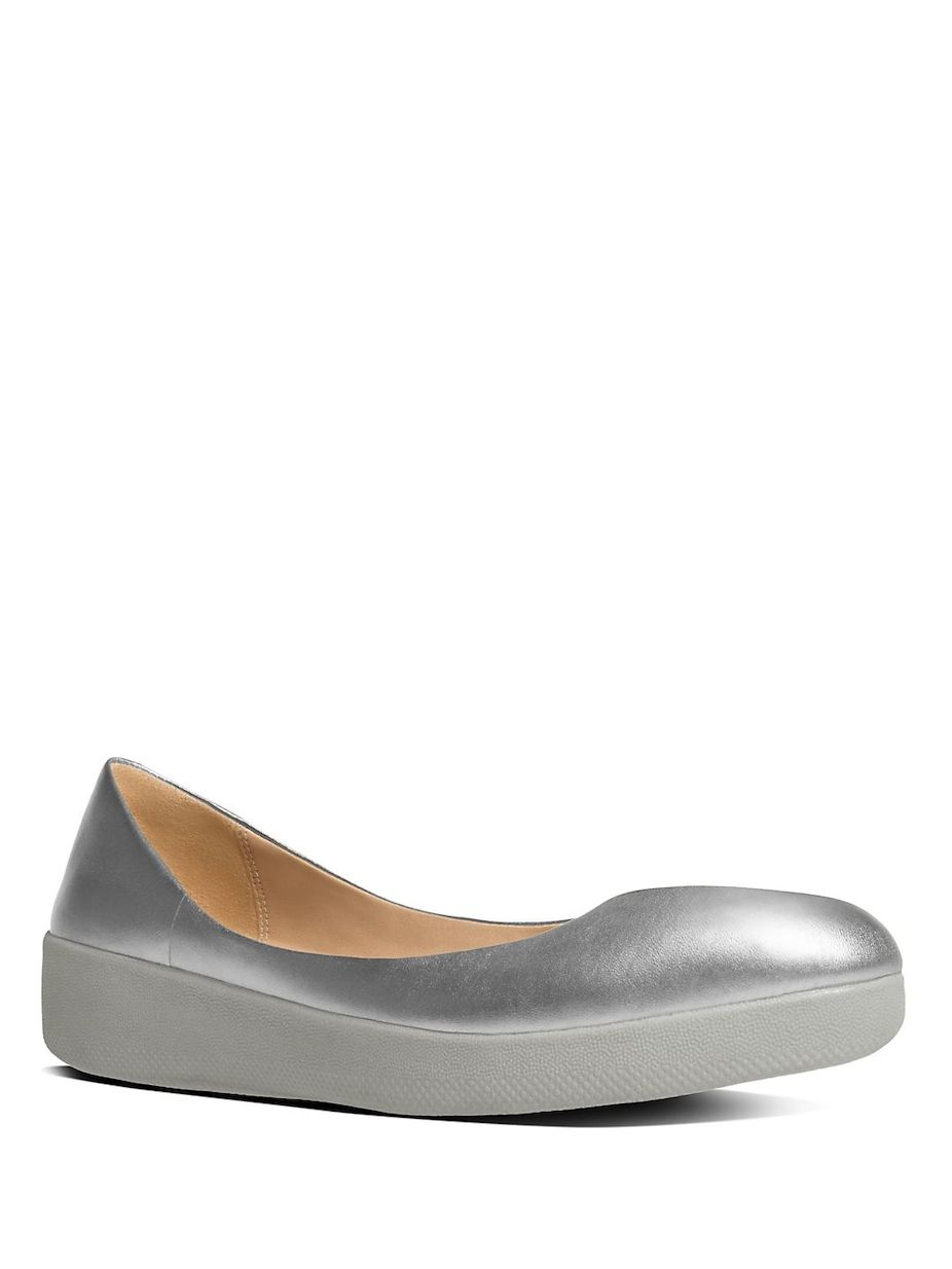 88202fdc6c30 FitFlop Superballerina TM Leather Ballet Flats