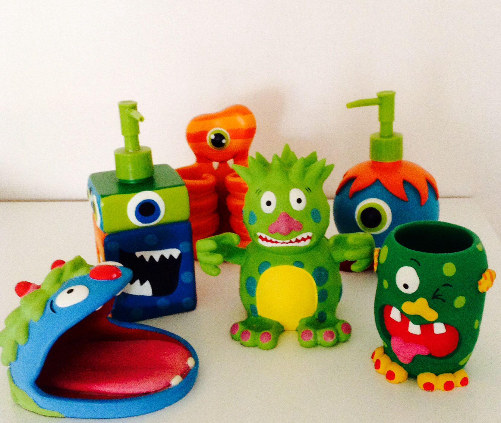 Kid S Monsters Bathroom Collection, Monster Bathroom Set