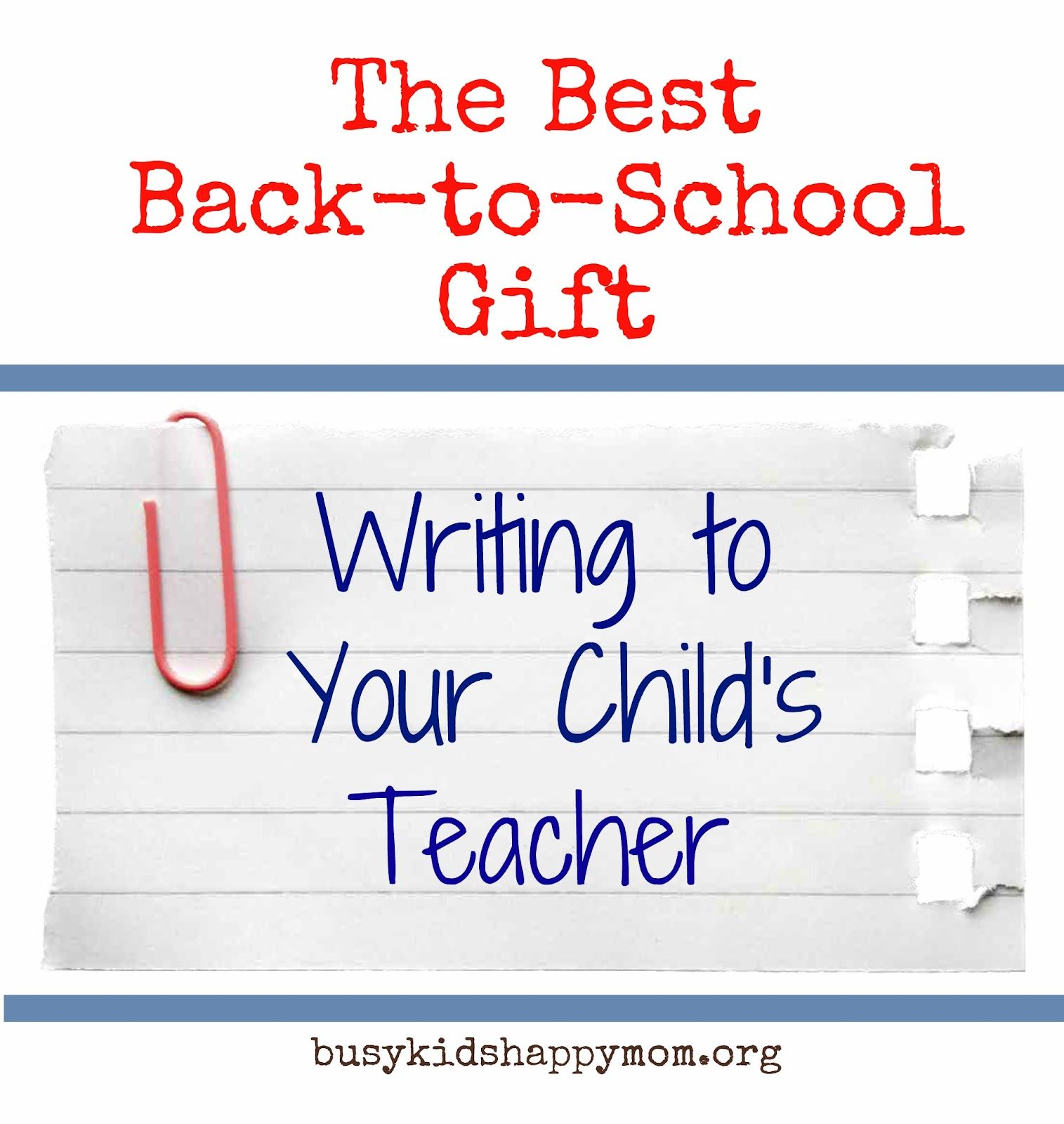 How to Write A Letter Describing Your Child To A Teacher  School