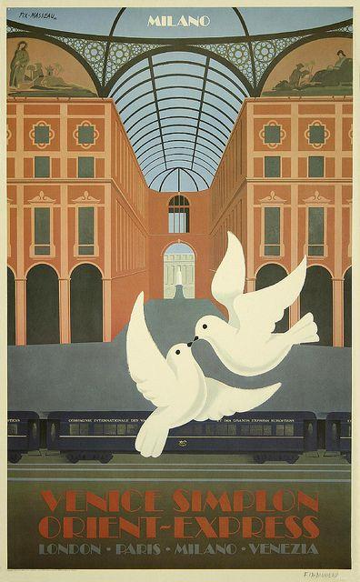 Pierre Fix-Masseau, Orient Express Poster