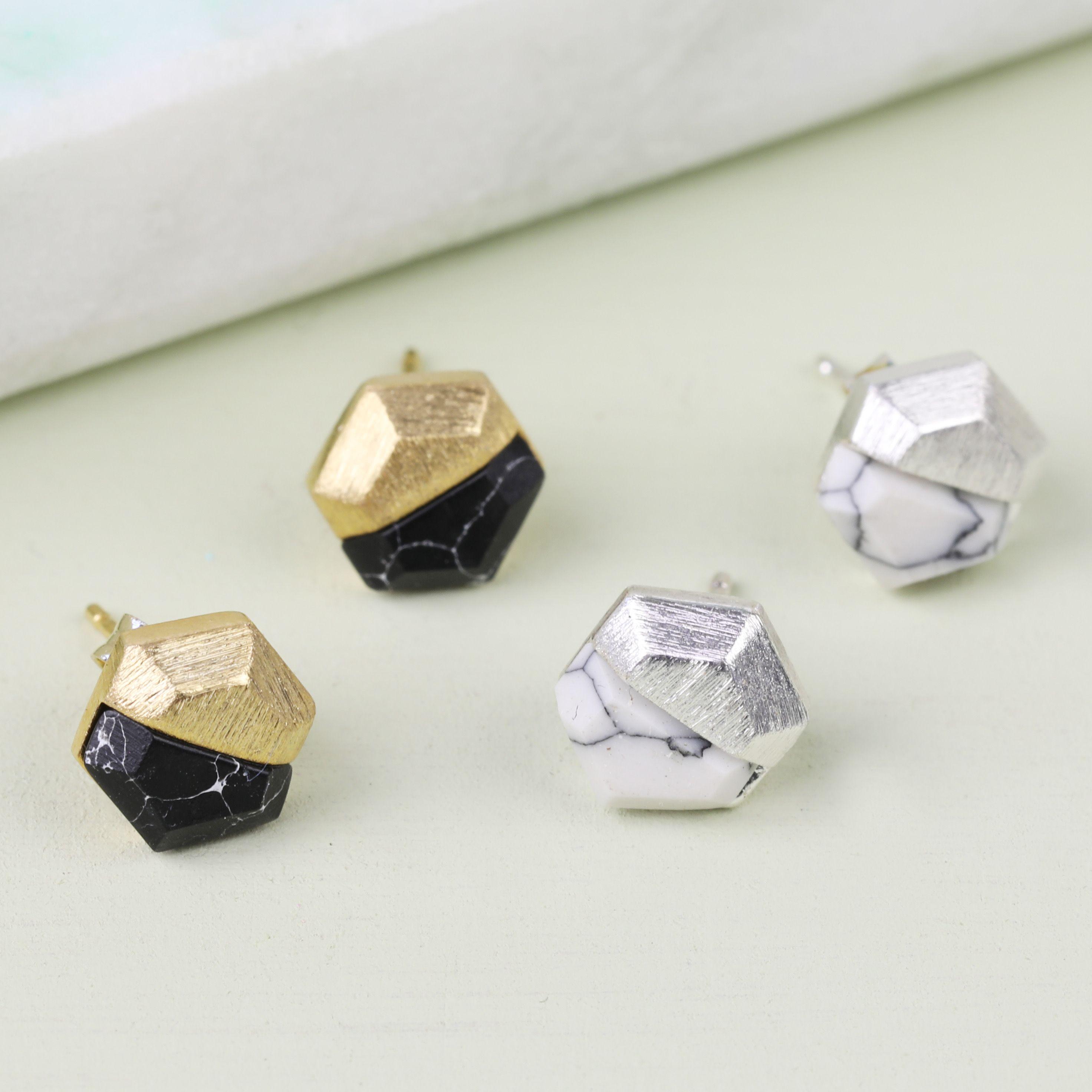3a26cba4cf35 pendientes minimalistas Negro de aretes Dainty y oro pendientes ...