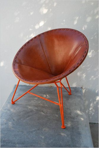 Garza Acapulco Chair: Leather
