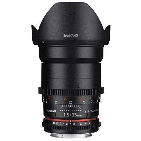 Samyang Syds35m C Vdslr Ii 35mm T1 5 Wide Angle Cine Lens For Canon Ef Cameras Canon Lens Wide Angle Lens Digital Camera