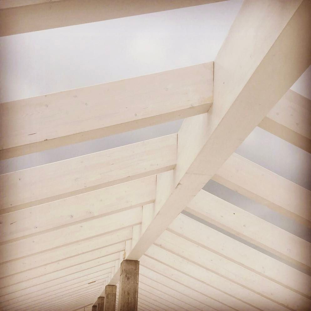 Struttura lamellare in abete ... #vallestronaenergyhouse