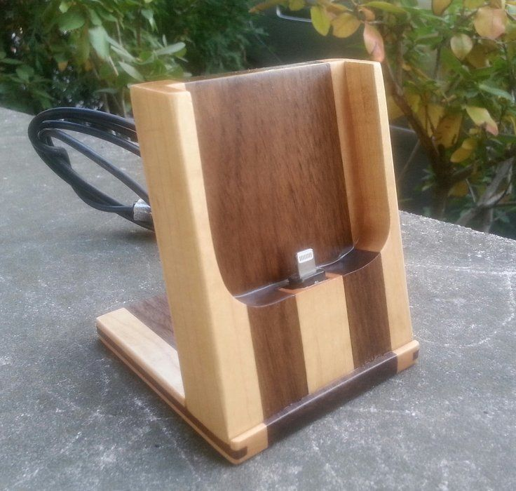 Phone Stand Designs : Another phone dock by jay made lumberjocks