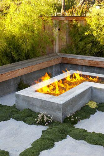 Japanese Cottage Modern Landscape San Francisco Jeffrey Smith Feuerstelle Garten Outdoor Feuerstelle Moderne Landschaftsgestaltung