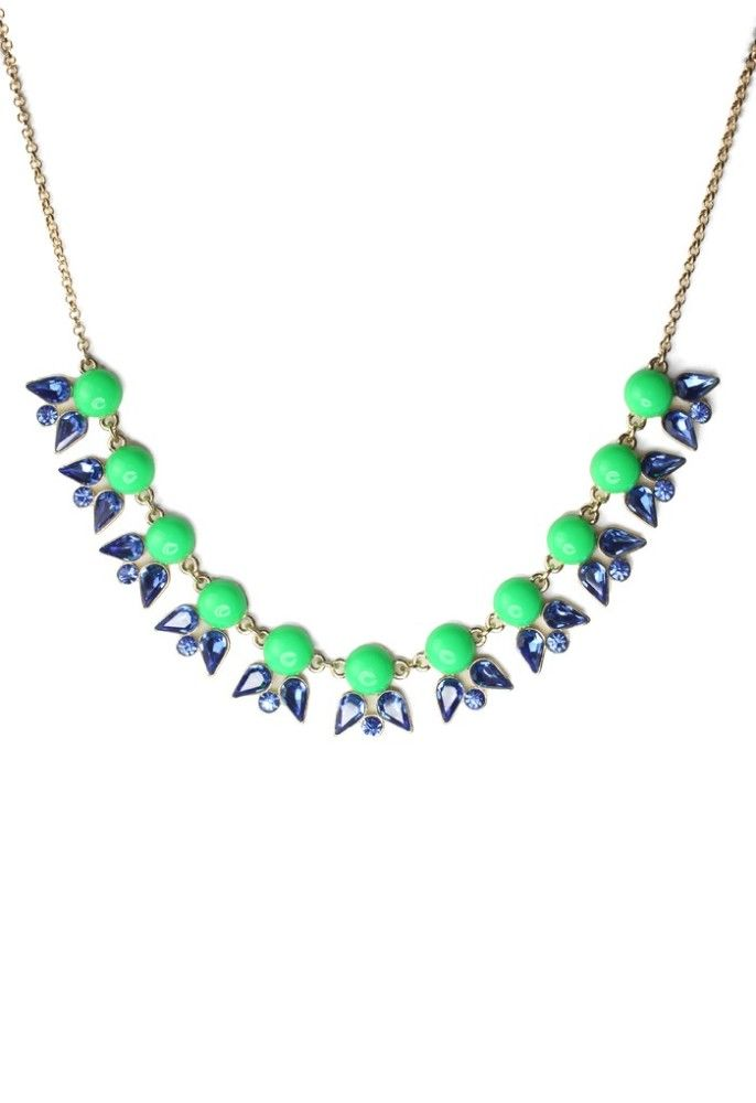 Neon Jewel Junebug Necklace- delicate statement necklace!