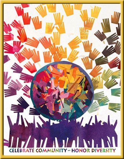 Celebrate Community Honor Diversity Diversity Poster Unity In