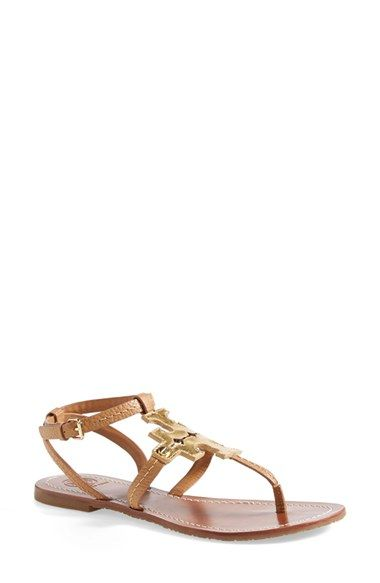 e70a620defe4 Free shipping and returns on Tory Burch  Chandler  Leather Sandal (Women)  at Nordstrom.com. A metallic double-T logo dominates on a minimalist