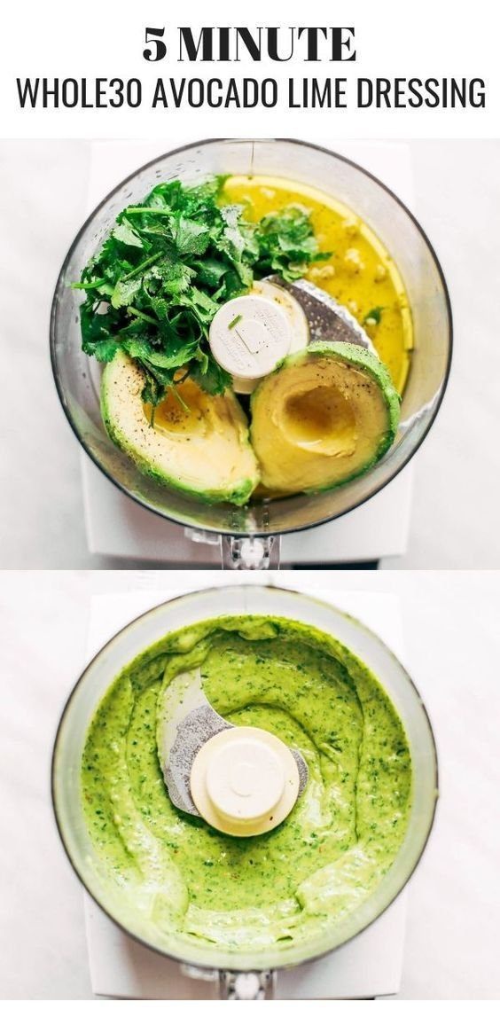 Cremiges Avocado-Koriander-Limetten-Dressing