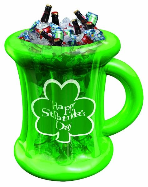Happy St. Patrick's Day Inflatable Beer Mug Drink Cooler ...