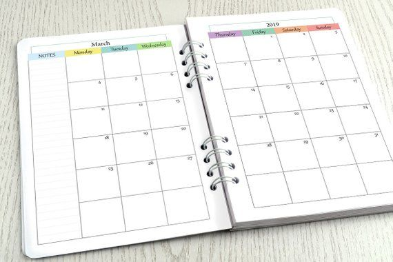A5 and Personal Planner Organiser Divider Inserts x3 *TOP TABS* Laminated