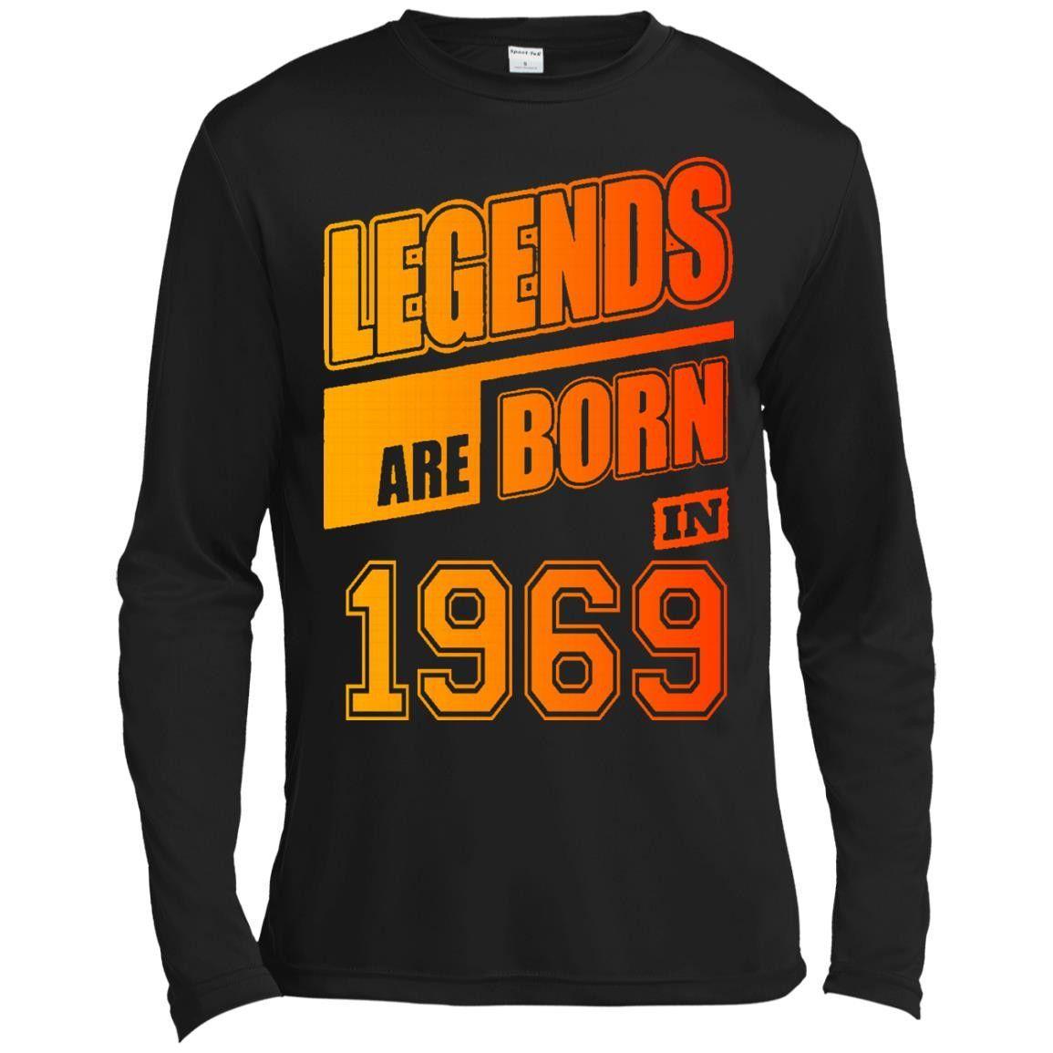 LEGENDS ARE BORN IN 1969 14 ST350LS Spor-Tek LS Moisture Absorbing T-Shirt