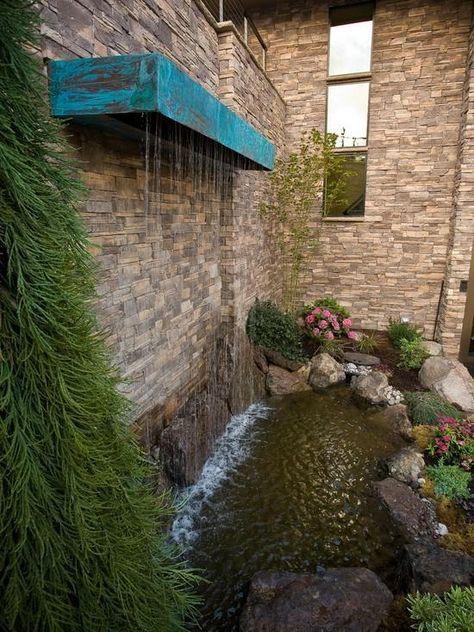 vertikale Wasserspiele Garten Koi Teich Wasserfall Edelstahl Montage ...