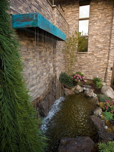 vertikale Wasserspiele Garten Koi Teich Wasserfall Edelstahl - wasserfall garten wand