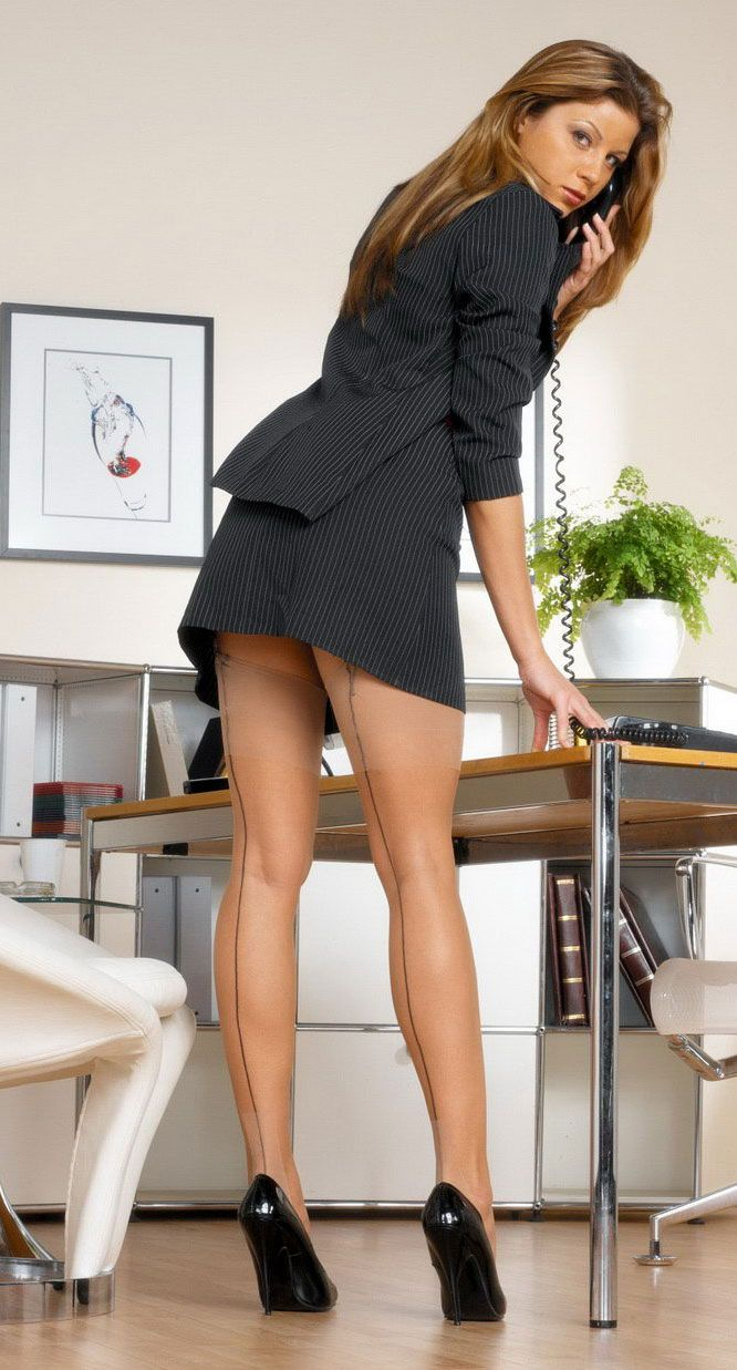 Black chair heels foot womans office legs