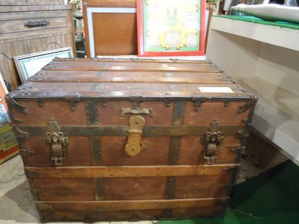 Baule Legno Fai Da Te : Beautiful prichard hamilton steamer trunk fixed price