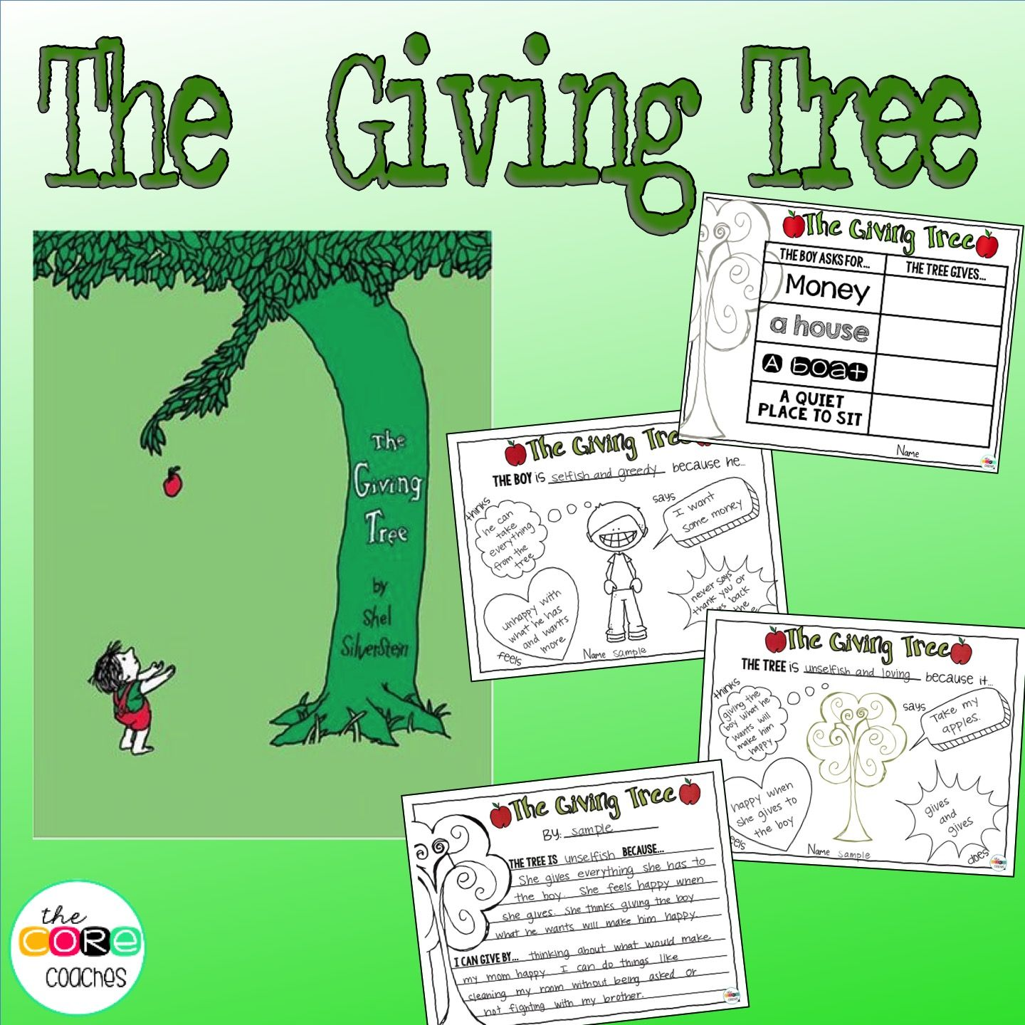 The Giving Tree Interactive Read Aloud Lesson Plans And