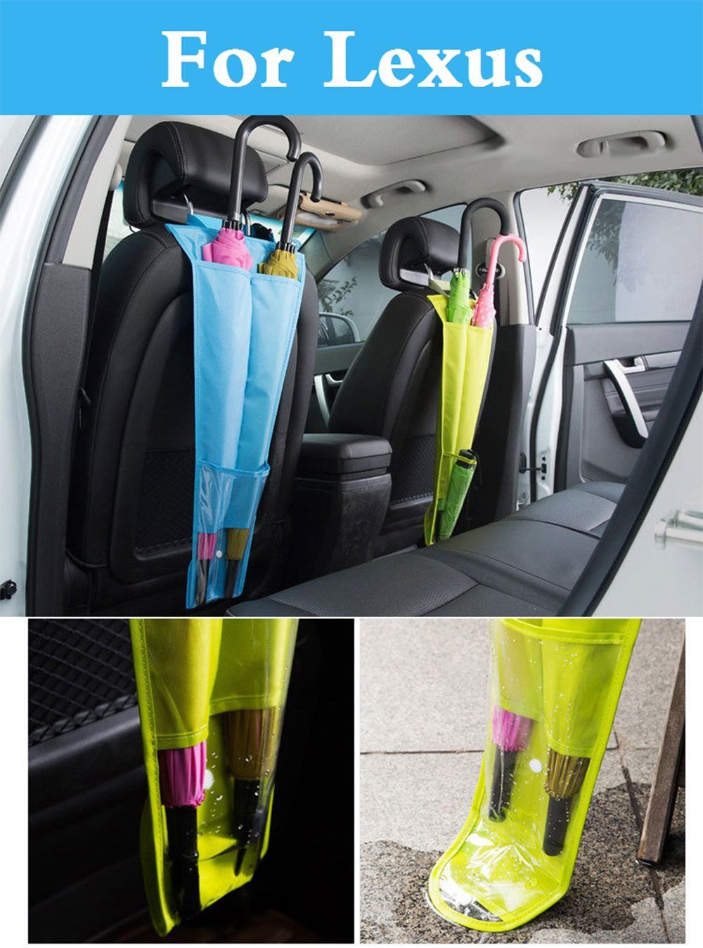 Car Seat Back Holder Foldable Auto Organizer Umbrella Bag For Lexus Gx Hs Is Gs Gs F Is F Lfa Ls Lx Nx Rc Rc F Rx Sc Ct Es Volkswagen