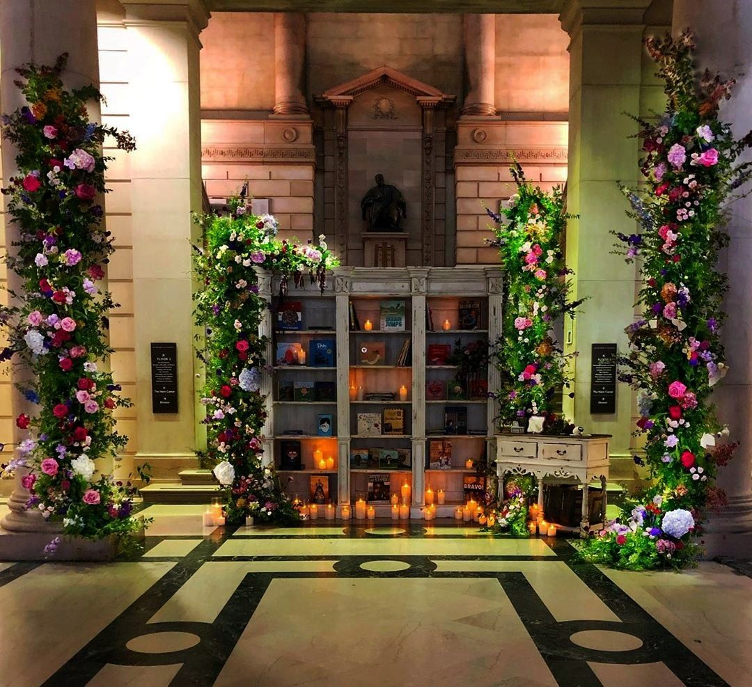 fun turning into  a library Books took center stage as guests arrive Such fun turning into  a library Books took center stage as guests arrive  Such fun turning into  a l...