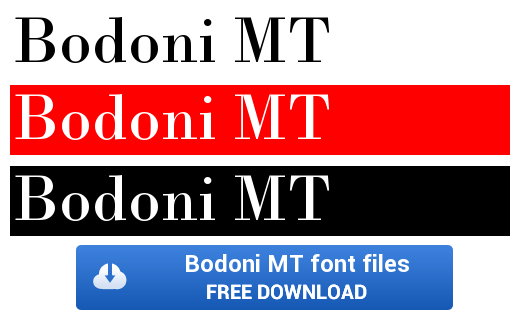 Bodoni MT Font | Home | Fonts, Linux, Windows