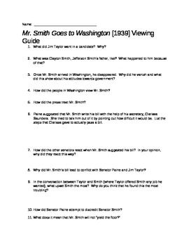 Mr Smith Goes To Washington Movie Guide Movie Guide Mr This Or That Questions