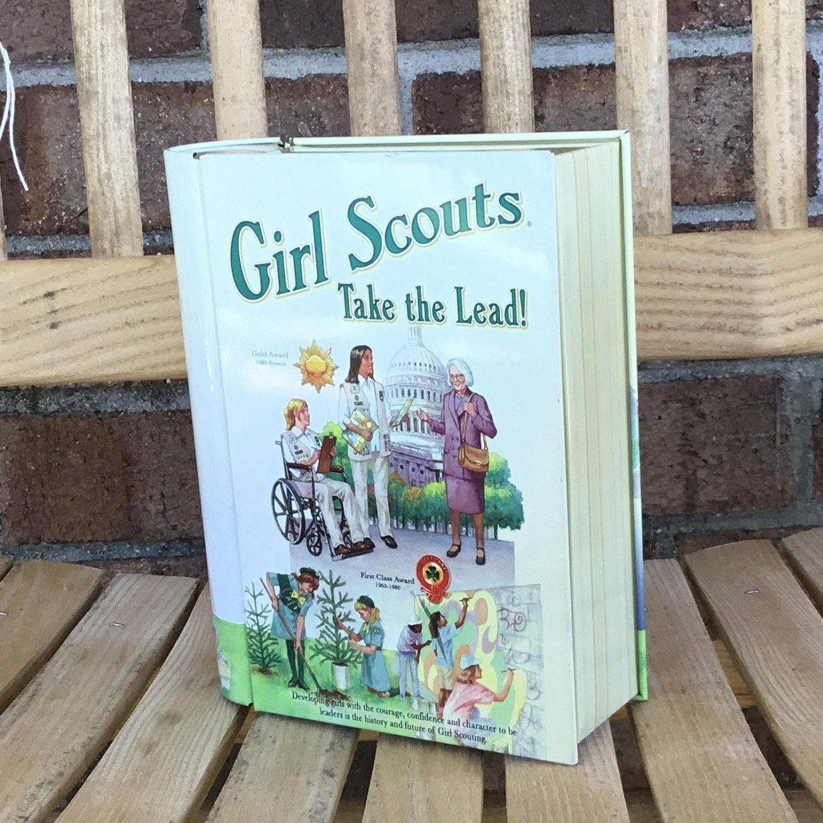 Great 1980\'s Vintage Book Shaped Tin by Girl Scouts | Collector\'s ...