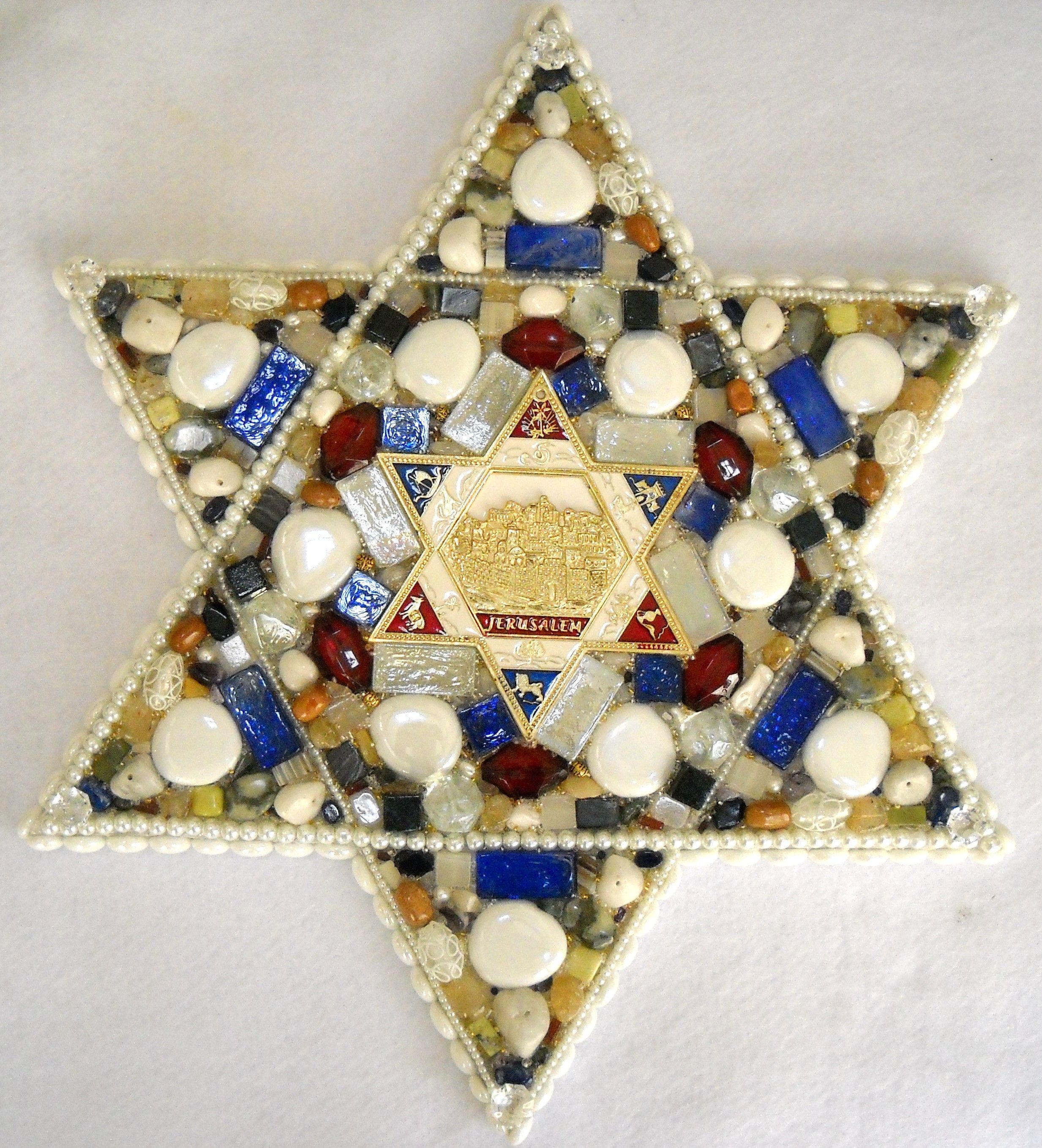 Large Star Of David 19 Diameter With Blue Red And