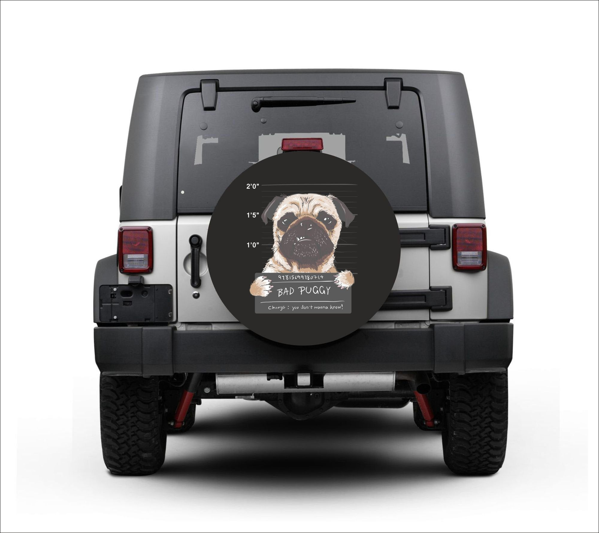 Universal Tire Cover Wheel Cover For Jeep Wrangler French